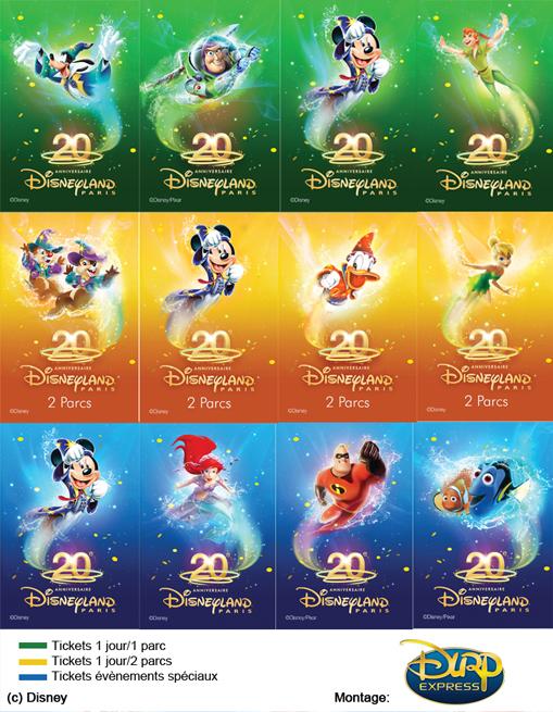 Disneyland Paris 20th Anniversary Tickets