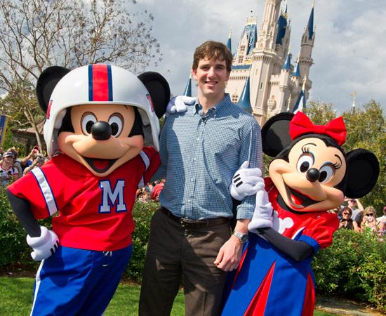 MVP Eli Manning Visits Walt Disney World