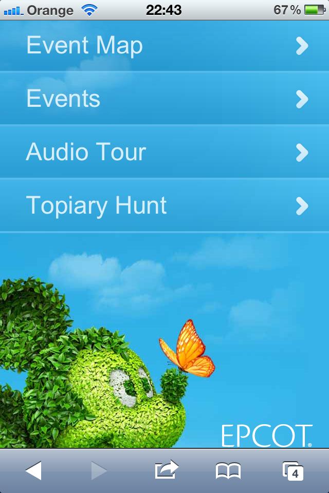 Mobile website For Flower and Garden Festival
