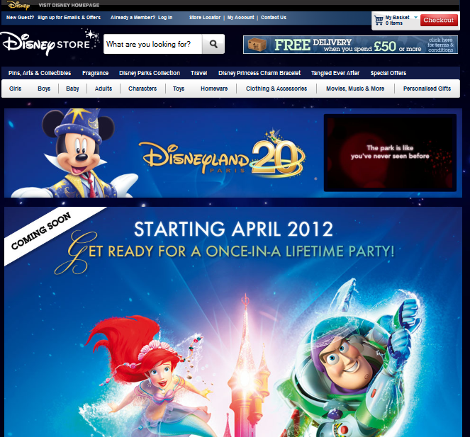 Disneyland Paris Merchandise coming to Disney Store UK Online