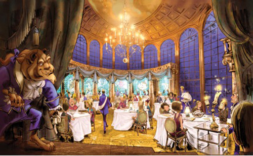 First Look Inside the New Be Our Guest Restaurant Opening Late 2012