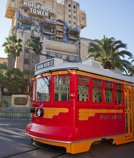 Red Car Trolleys Now Testing at Disney's California Adventure Park