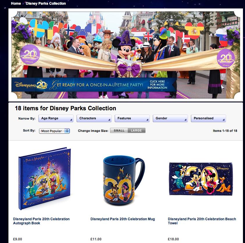 Disneyland Paris Merchandise Hits Disney Store UK