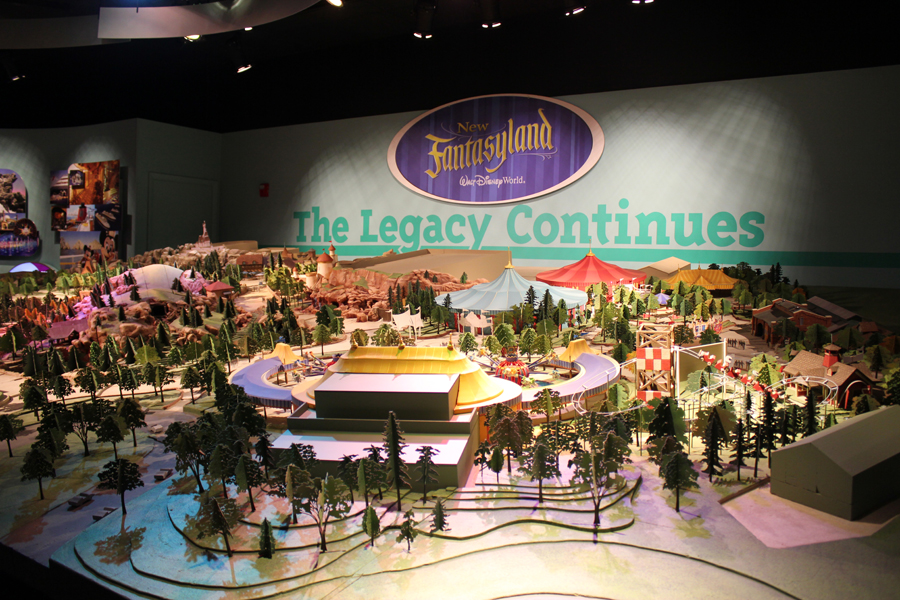 One Man's Dream Updated with Fantasyland Model
