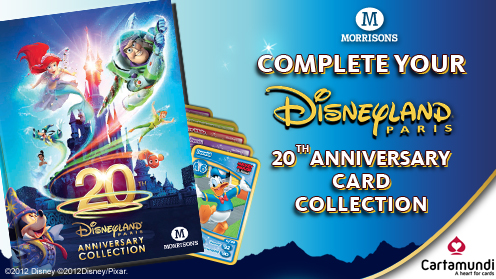 Complete Your Morrisons Disneyland Paris 20th Anniversary Card Collection from 10p a Card