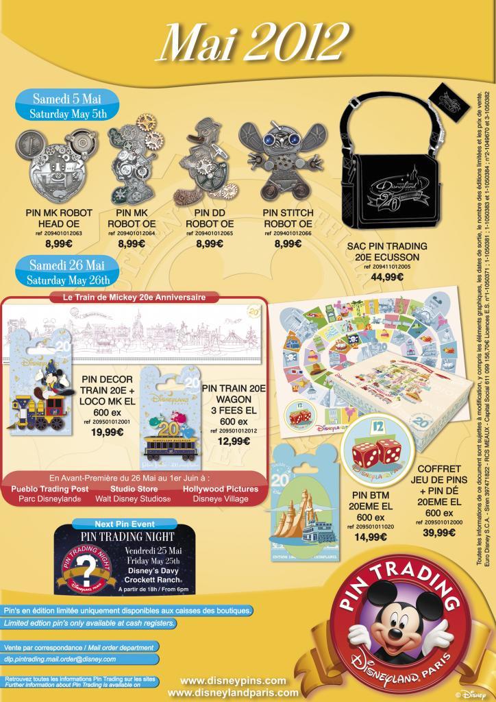 Disneyland Paris Pin Releases – May 2012