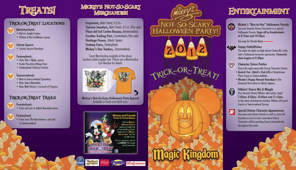 Mickey's Not So Scary Halloween Party 2012 Event Map