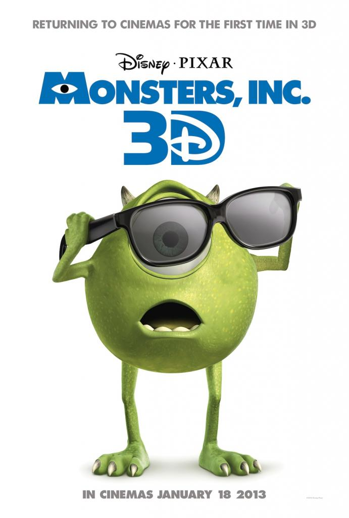Monsters, Inc. 3D to hit Cinemas in January 2013