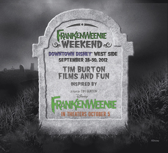 Downtown Disney Celebrates Frankenweenie with Celebration Weekend