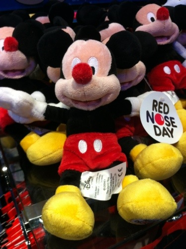 The Disney Store Gets into the Red Nose Spirit