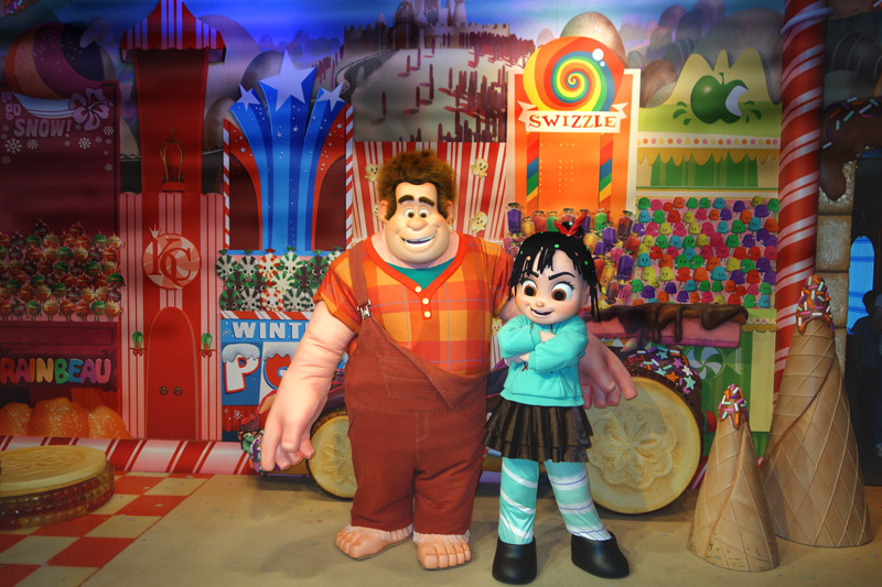 Ralph and Vanellope's autographs.