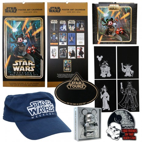 First Look at Star Wars Weekends 2013 Merchandise at Disney's Hollywood Studios, Including An Oversized Calendar With 13 Previous Star Wars Weekends Posters. Each Poster Measures 12-Inches By 18-Inches, And Can Be Removed From The Calendar For Framing
