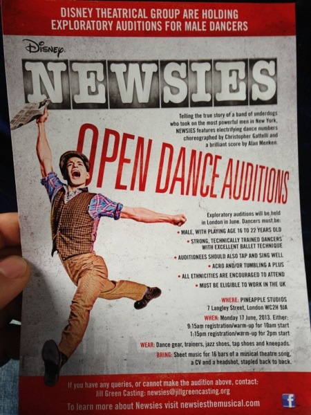 Is Disney's Newsies coming to the West End?