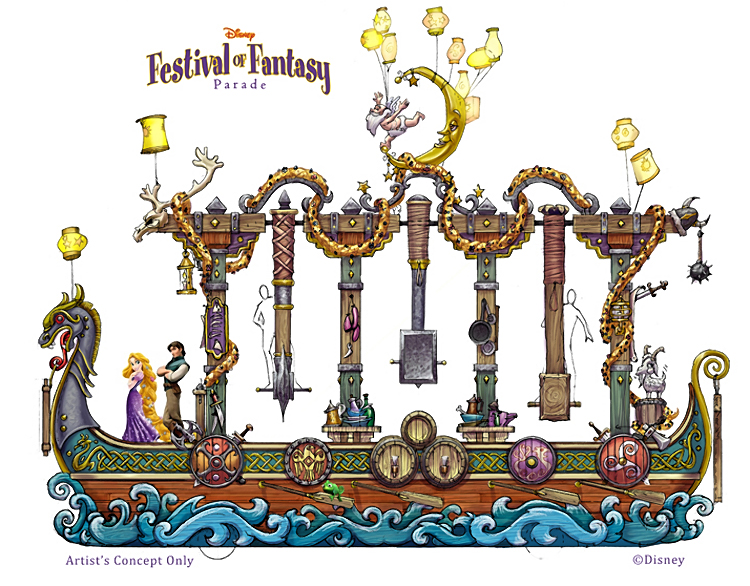 VIDEO – A Look Behind the Scene of Walt Disney World's Festival of Fantasy Parade