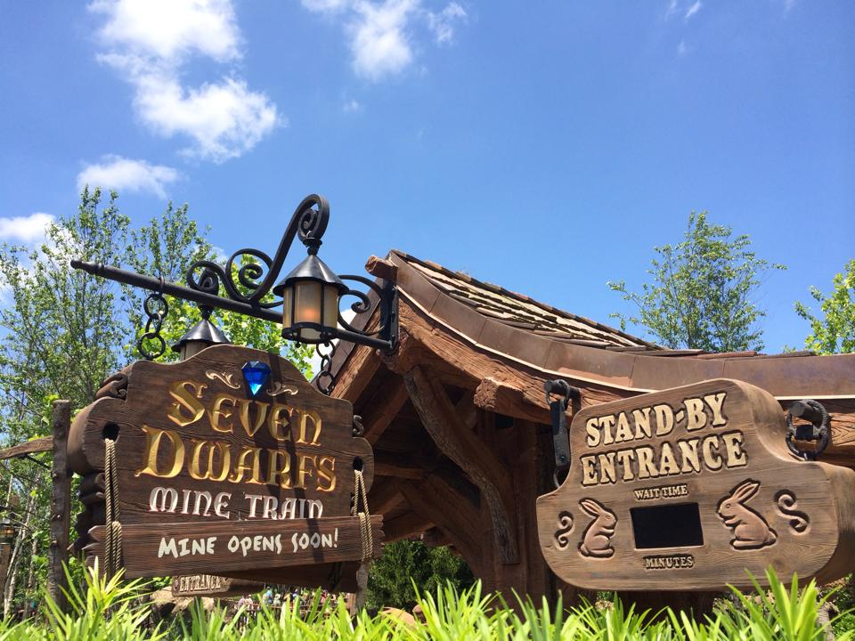 Seven Dwarfs Mine Train Walls Come Down