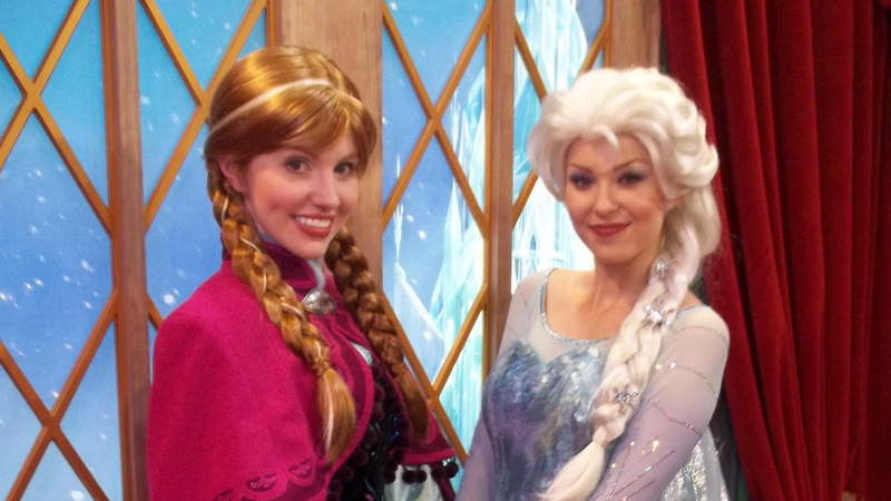 Anna and Elsa Stay Up Late at the Magic Kingdom