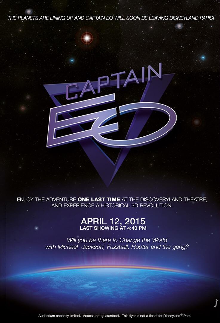 Disneyland Paris says Goodbye Captain EO