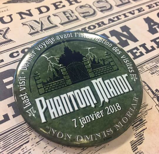 Commemorative Badge for Phantom Manor Closing this Sunday